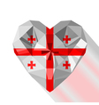 crystal gem jewelry heart with the flag of Georgia vector image