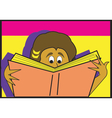 Person reading book vector image vector image