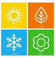 icons of seasons vector image