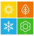 icons of seasons vector image