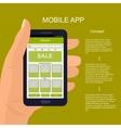 mobile app interface design vector image