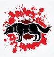 angry wolf standing vector image
