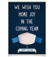 Vintage card template with the new year vector image vector image
