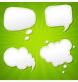 Green Sunburst Poster With Speech Bubble vector image