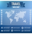 Blurred Landscape Map Web and Mobile Template vector image