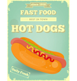 Big Hot Dog vector image vector image
