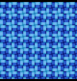 Woven blue pattern vector image