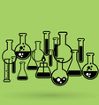 Chemical laboratory background with test tubes vector image