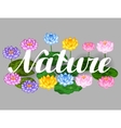 Natural background with lotus flowers and leaves vector image vector image