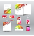 Corporate identity template with dotted background vector image
