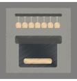 flat shading style icon pub bar vector image