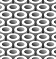 abstract 3d tubes seamless pattern vector image