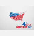 happy independence day with america map and stars vector image