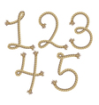 Rope number alphabet vector image