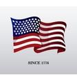 United states of america flag design vector image