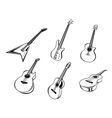 Musical guitars instruments vector image vector image