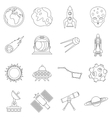 Space icons set outline style vector image vector image