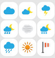 nature flat icons set collection of hailstones vector image