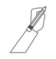 hand human with pencil isolated icon vector image