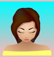 bright girl with closed eyes vector image