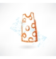 dress grunge icon vector image vector image