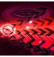 Arrow abstract background vector image vector image