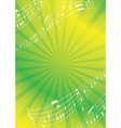 green and yellow abstract music background vector image