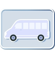 icon with isolated minibus vector image