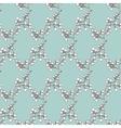 Vintage Drawing Kimono Branches Seamless vector image