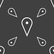 map poiner icon sign Seamless pattern on a gray vector image