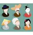 Avatars traditional national suits vector image