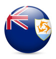 A badge in colours of anguilla flag vector image