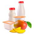 Yogurts vector image vector image