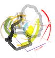 Abstract gramophone vector image