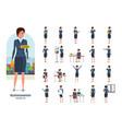 businesswoman worker in formal wear gestures vector image
