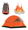 Camping gear vector image