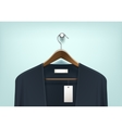 Clothes Hanger with Cardigan Blank Tag Label vector image