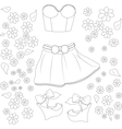 collection of summer clothes vector image