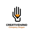 Creative hand Design vector image