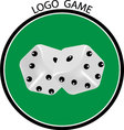 Cubes game logo vector image