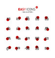 easy icons 04d mail vector image
