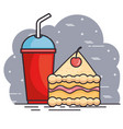 fast food meal design vector image