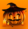 Happy Halloween Pumpkin vector image
