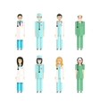 proffesion doctors 2 vector image