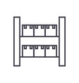 stock industrial warehouse line icon sig vector image