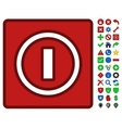 Turn Off Switch Symbol With Toolbar Icon Set vector image