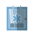 cabinet first aid kit medical symbol shadow vector image