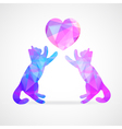 mosaic couple of cats vector image vector image