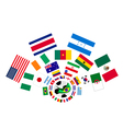 The 32 Nations in The Brazil 2014 vector image