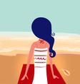 Cute summer girl on beach vector image vector image